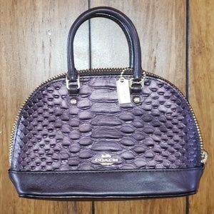 Coach Mini Sierra Oxblood Bag